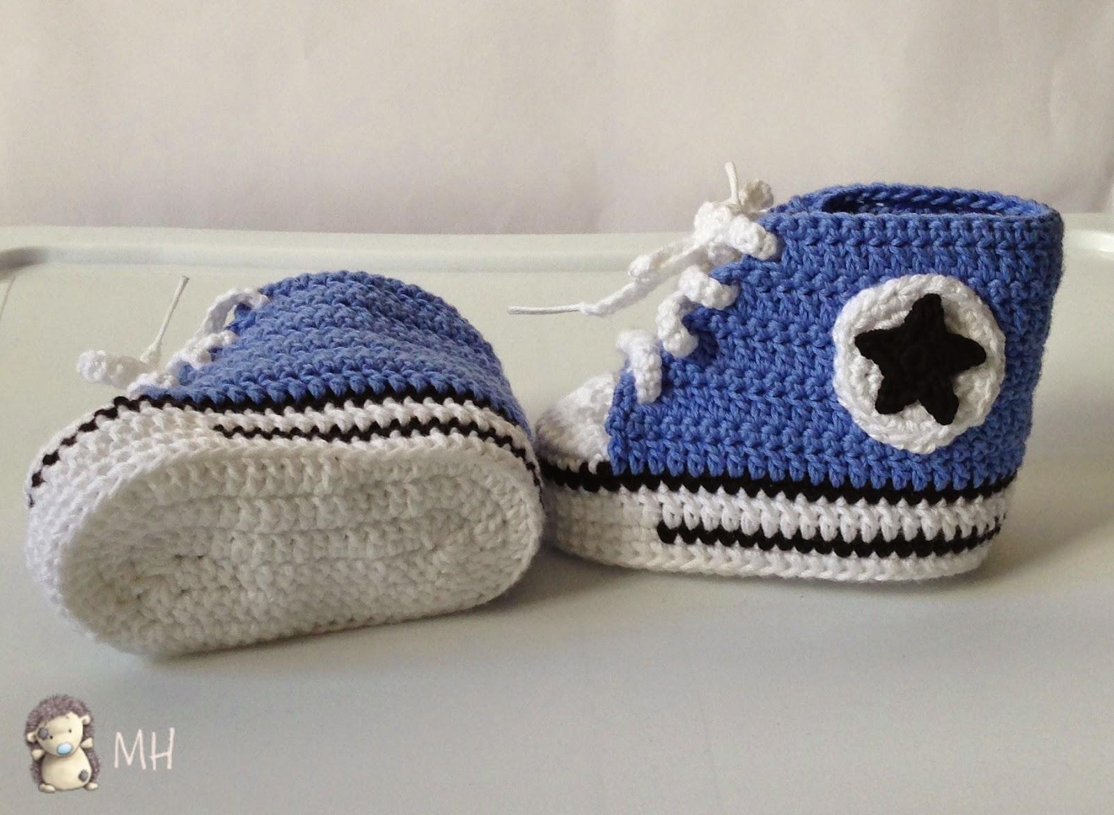 zapatilla converse a crochet