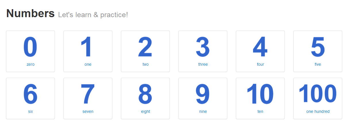 numbers_english_practice