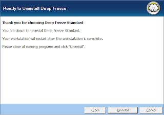 uninstall deep freeze 7