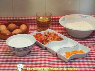 receta de magdalenas rellenas de fruta