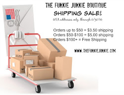 Shipping Sale at The Funkie Junkie Boutique