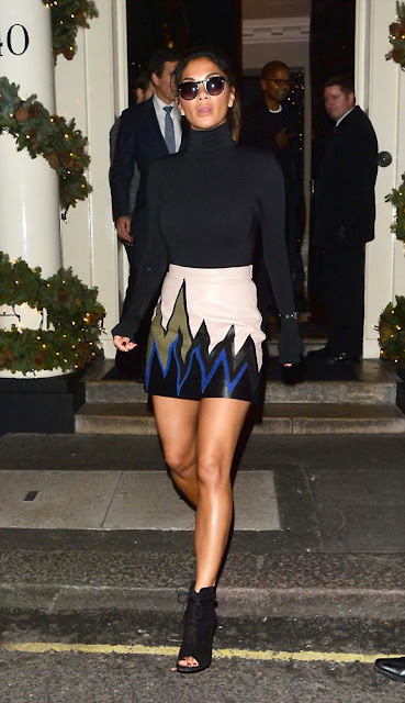 Actress, Singer, @ Nicole Scherzinger - Leaving the Arts Club in Mayfair, London