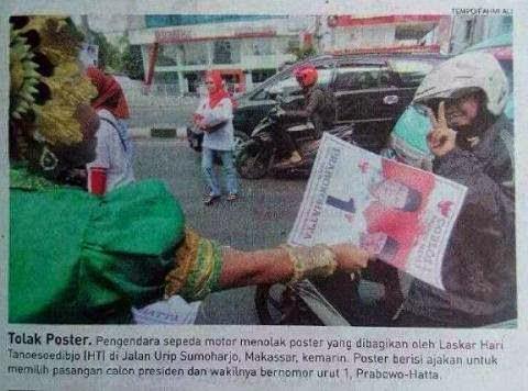Tolak Prabowo
