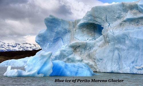 The blue ice of Perito Moreno Glacier