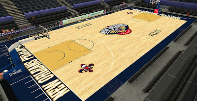 NBA 2K14 Pelicans HD Court Mod
