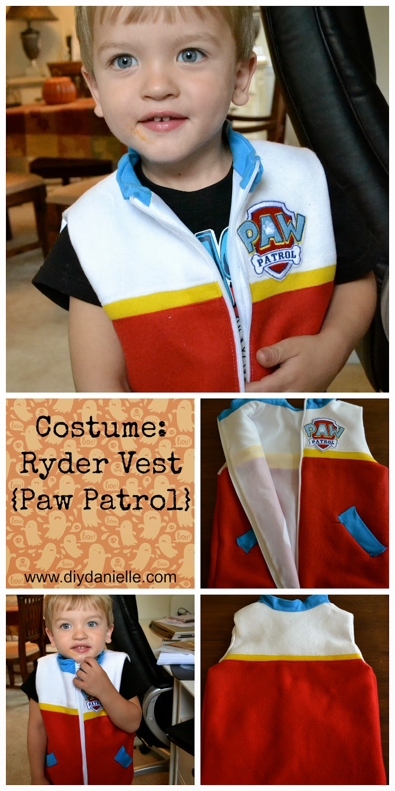 How I made a Ryder costume for my son for Halloween. I love costumes!