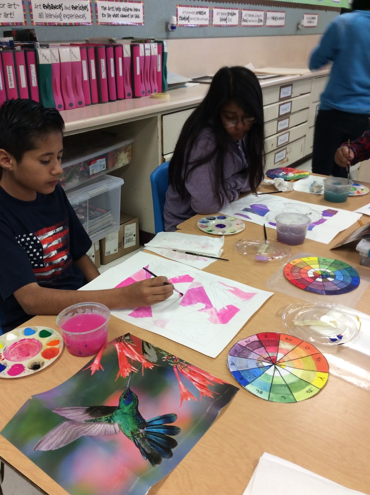 Ms Dempseys Students Have Used Their Recent Color Wheel Projects To Apply Current Art Paint Pictures