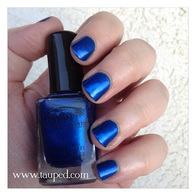 Color club trippie hippie all about color blue nail polish swatch