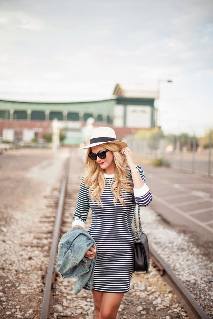 Theory, Zamioni, Bimini, Stripe, Navy, White, Stripe, Stretch, Sweater, Dress, Superga, Canvas, Sneakers, Panama, Straw, Hat, O'Neill, Stila, Stay All Day, Beso, Lip Stain, Chanel, Large, Black, Boy, Silver Chain, Caitlin Lindquist, A Little Dash of Darling, Fashion Blog, Beauty, Lifestyle, Blogger, Arizona, Phoenix, Scottsdale, Blonde, #myphx, Sale,