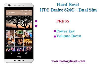 Hard Reset HTC Desire 626G+ Dual Sim
