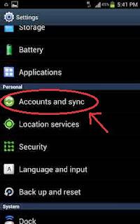 Cara Menhentikan Sinkronasi Auto Sync Pada Android