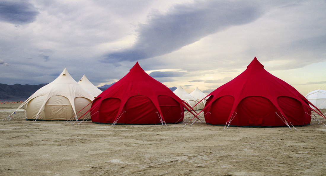 Desert canvas tents at C& Caravan of Light & This is Black Rock City: Camping in style or not at Black Rock City
