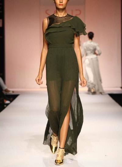 Trendy Forest Green Jump Suit | Indian Designers | Indian Designer jumpsuit by Sougat Paul