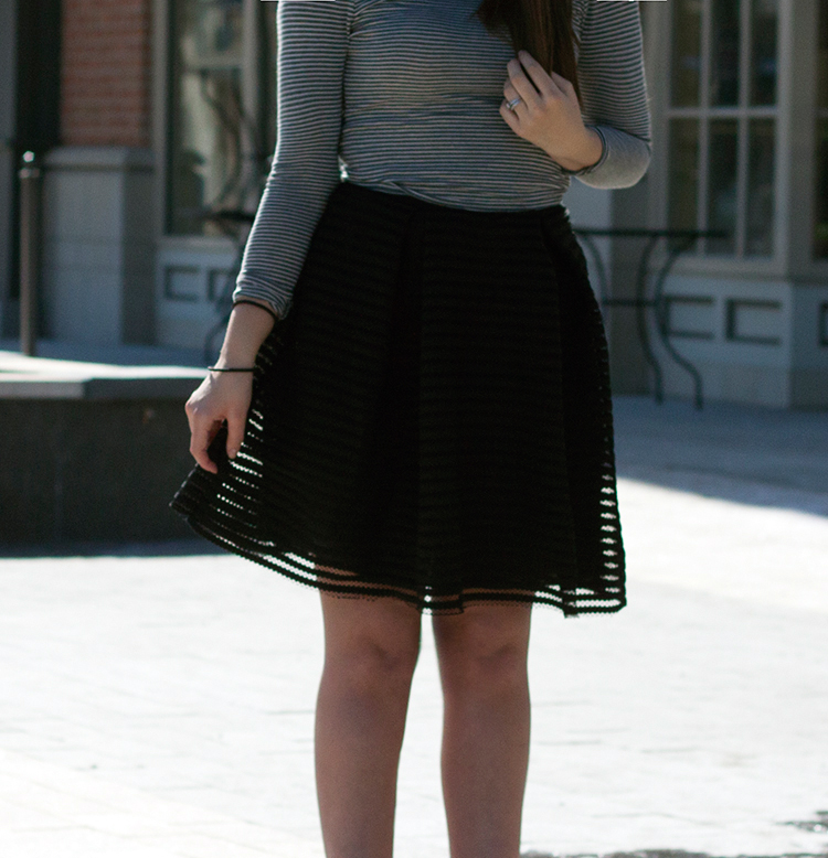 black see-through skirt