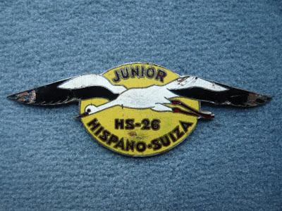 HISPANO SUIZA radiator badge emblem