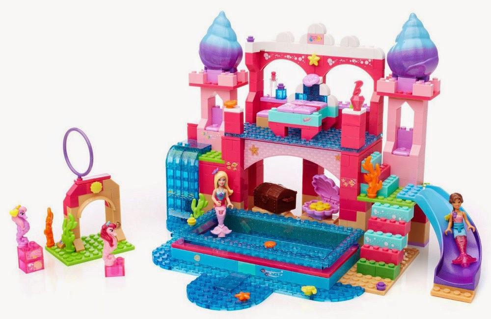 JUGUETES - MEGA BLOKS Barbie  80241 Castillo Submarino | Barbie Underwater Castle Producto Oficial | Piezas: 419 | Edad: 4-10 años
