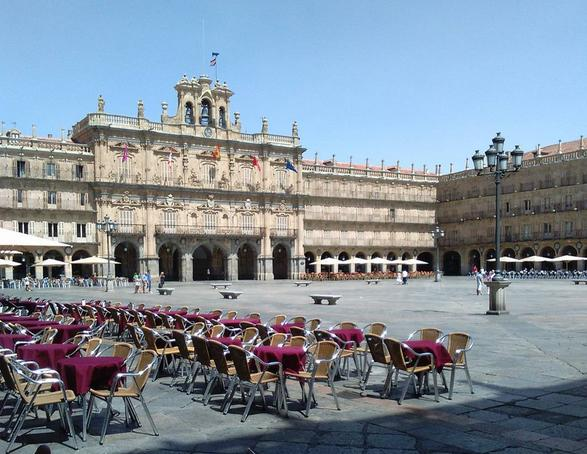 Maquillaje para escapada de fin de semana. Salamanca. Plaza Mayor de Salamanca