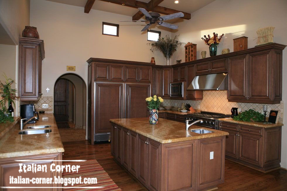 Italian corner for Italian kitchen cabinets