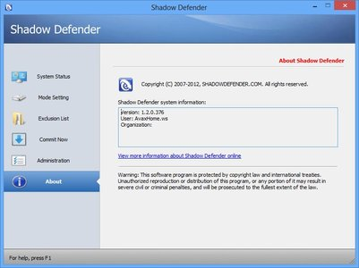 Shadow Defender 1.2.0.376 Full Version (x86/x64)