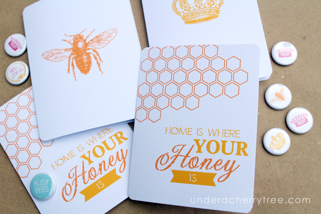 http://underacherrytree.blogspot.com/2014/10/queen-bee-notecards.html