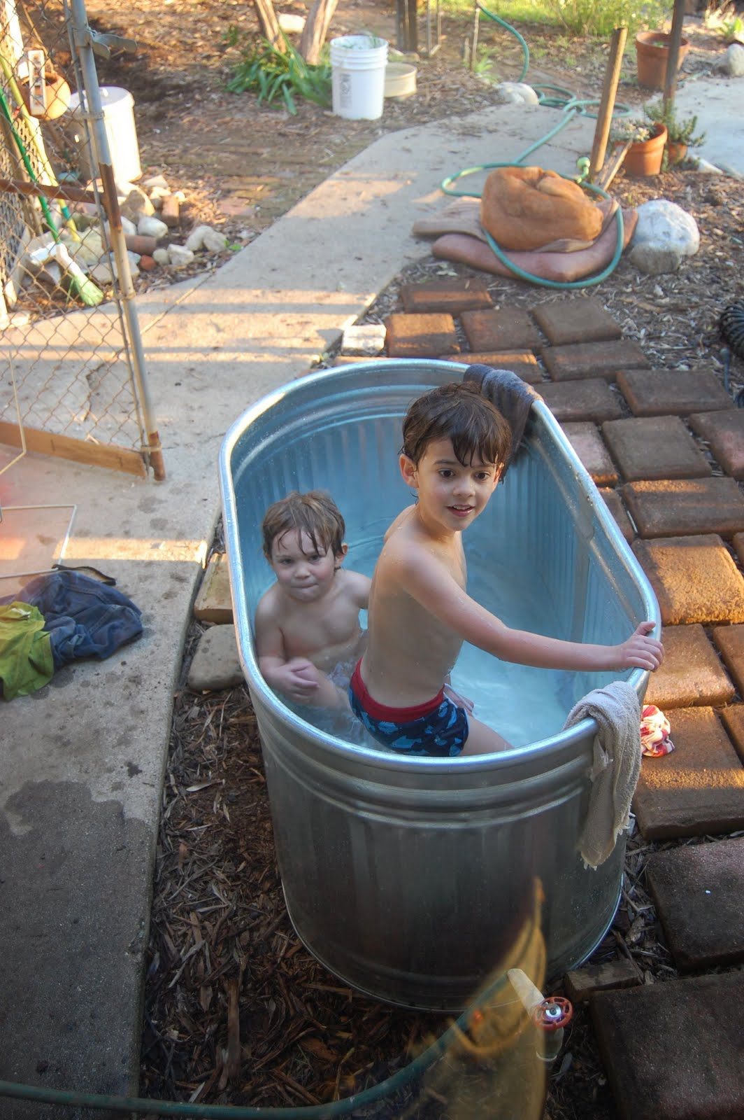 Outdoor Tub Set Up