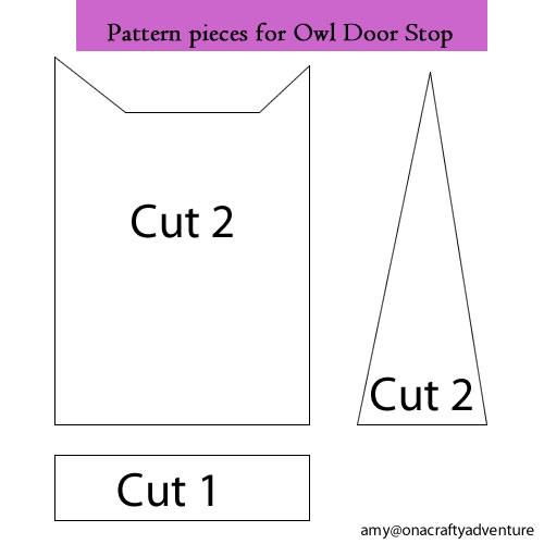 On A Crafty Adventure Owl Door Stop Tutorial