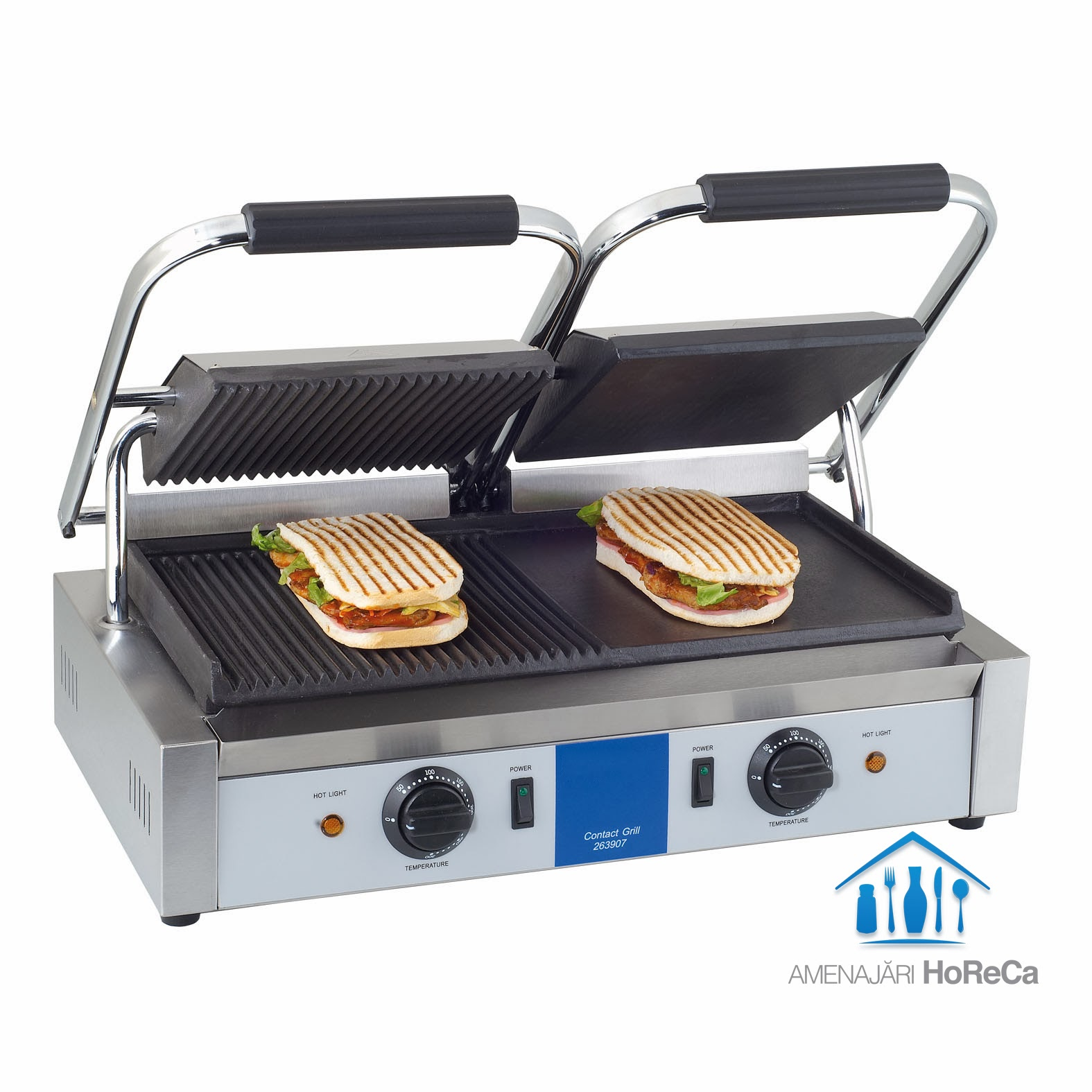 Panini Sandwich, Model Dublu, Utilaje Fast Food, HoReCa