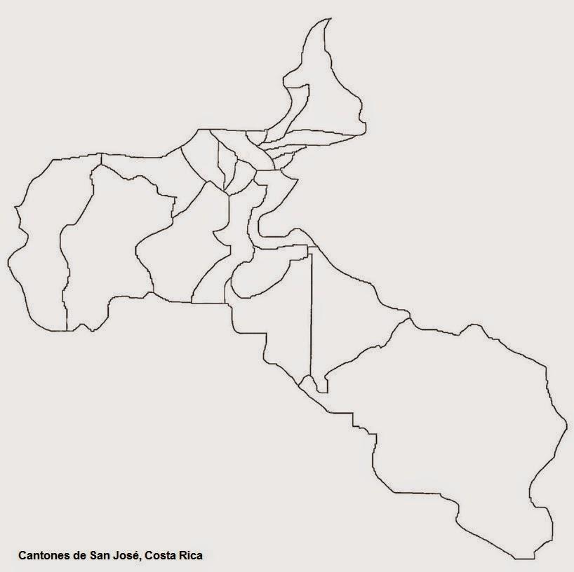 San Jose Provincia N 1 de Costa Rica  MAPAS DE