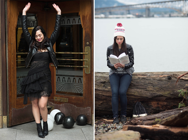 coco and vera, top vancouver style blog, one jacket ten ways, remix, black leather jacket, outfit