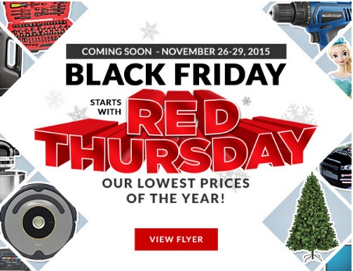 Canadian Tire Black Friday red Thursday Sneak Peek