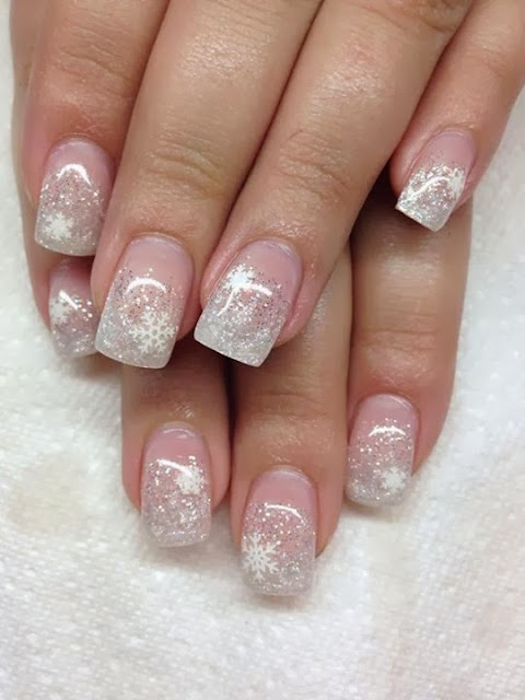 acrylic backfill-glitz French- LED polish Xmas design- Gel-Nails-Polish-LED-Polish-LED-Nails-Acrylic-Nails-Nail-Art