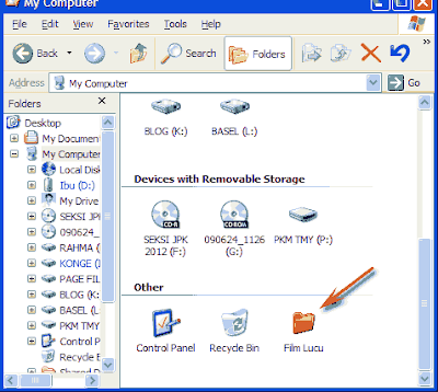cara menambahkan folder di mycomputer