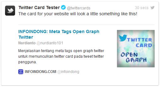 Twitter card tester