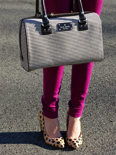kate spade new york bags black and white striped kaleigh | www.houseofjeffers.com