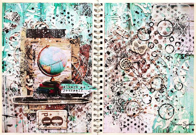 [ Art-book. School memories ] @marinasyskova #mixedmedia #scrapbooking #artbook #artjournal