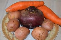 Винегрет из овощей на пару: Овощи помыть