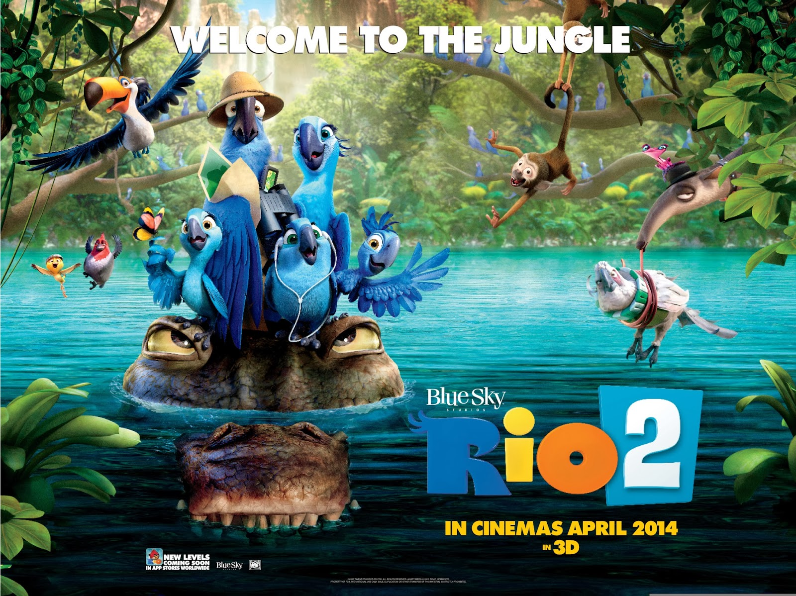 Rio 2 Poster 2014 New poster from rio 2.