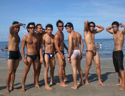 sexy pinoy beach underwear on the beach