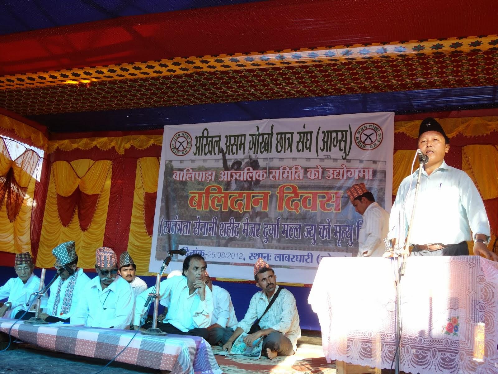 बलिदान दिवस, लोकरा (असम)-२०१२