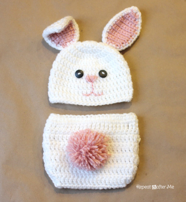 Crochet Bunny Hat With Flower Pattern : Crochet Bunny Hat Pattern - Repeat Crafter Me