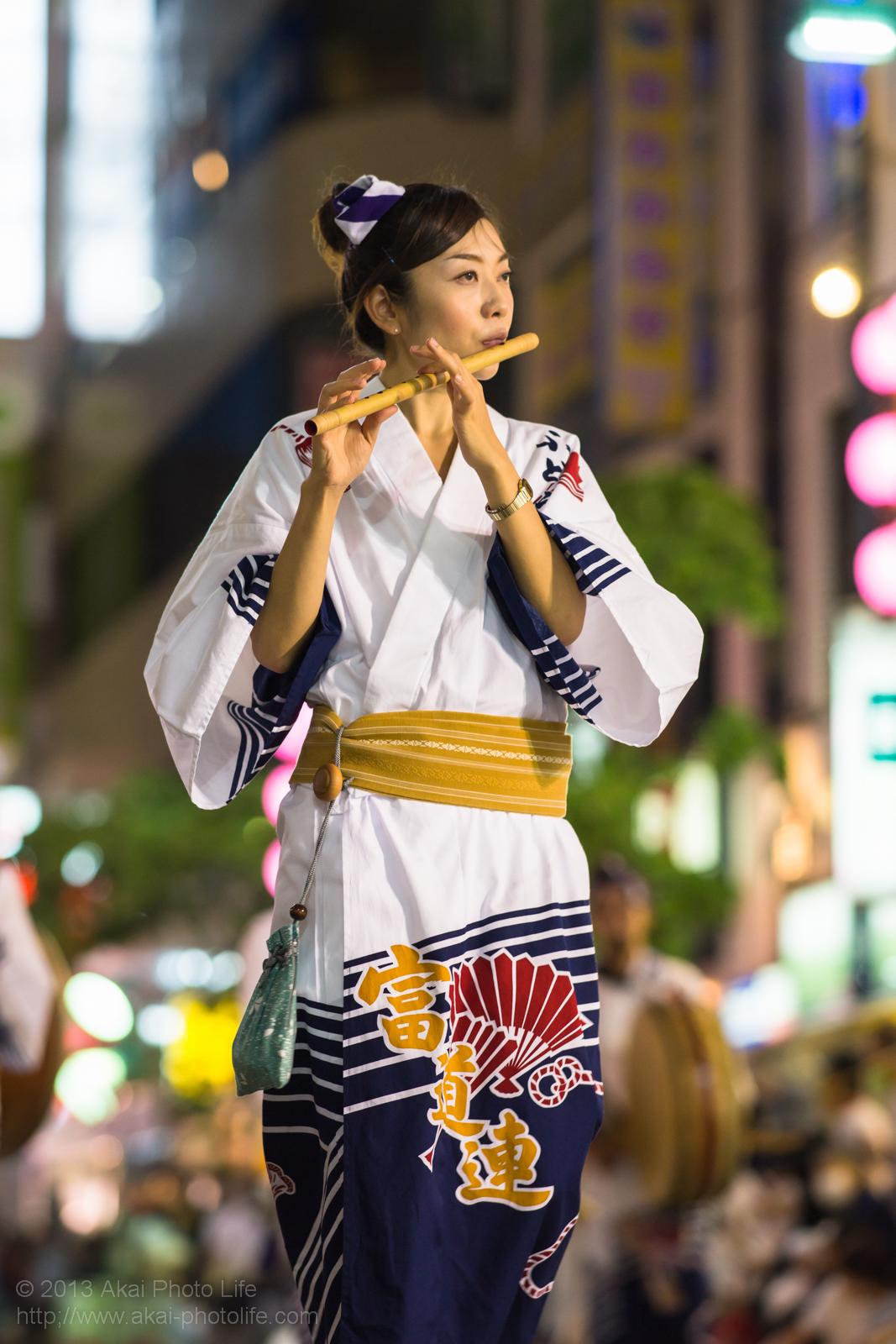 三鷹阿波踊り、富道連の鳴り物