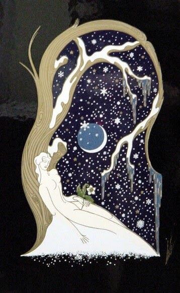 Winter by  Erté