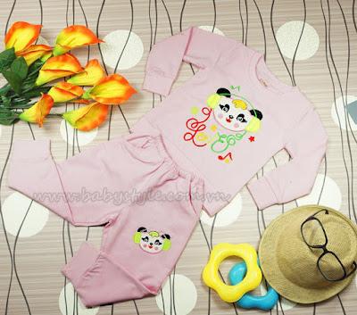 Bộ Gấu Nghe Nhạc dành cho bé trai màu Sen - Babystyle.com.vn