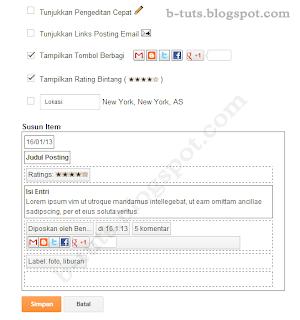 jendela pop up pengaturan posting blogger