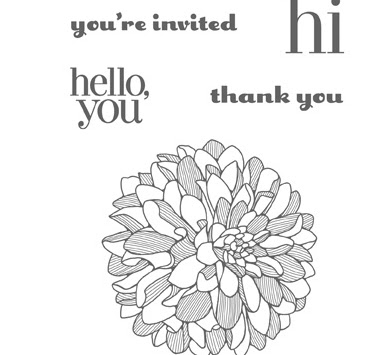 Regarding Dahlias, Stampin' Up!
