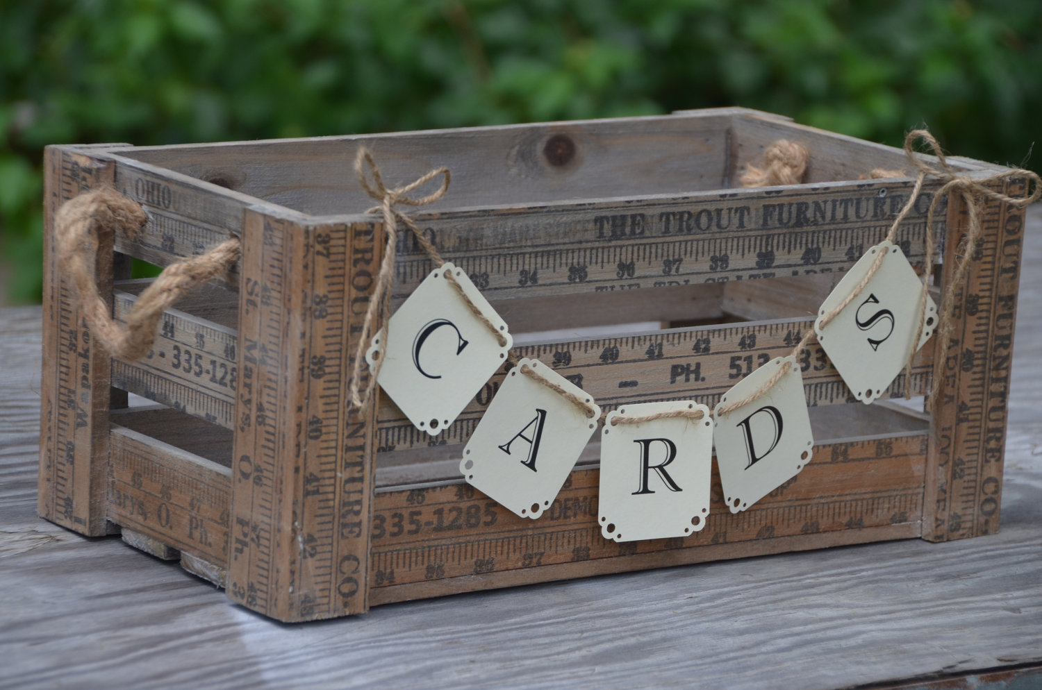 Free Rustic Vintage Wedding Card Box Ideas With