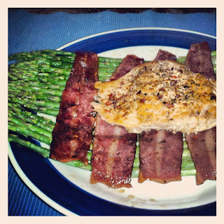 Keto Salmon Life-Raft with Turkey Bacon & Asparagus