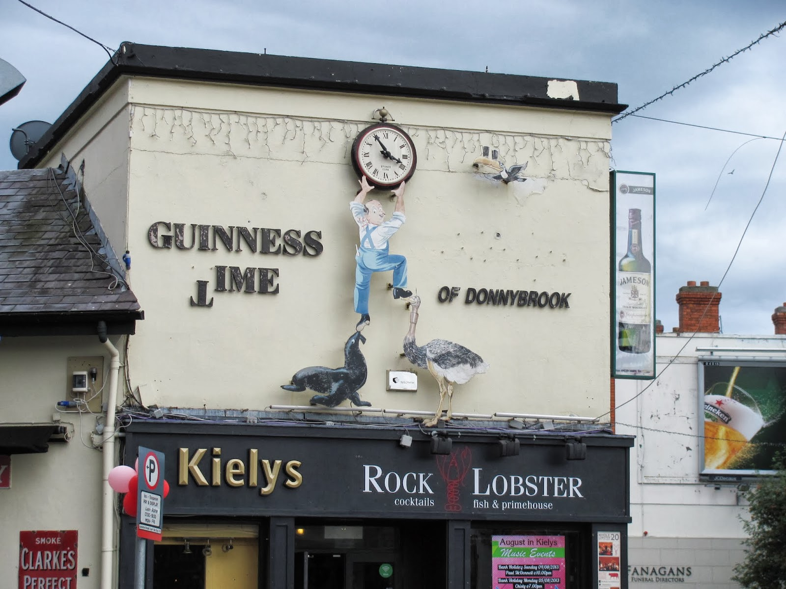 The entrance to the pub Kiely's of Donnybrook in Dublin, Ireland