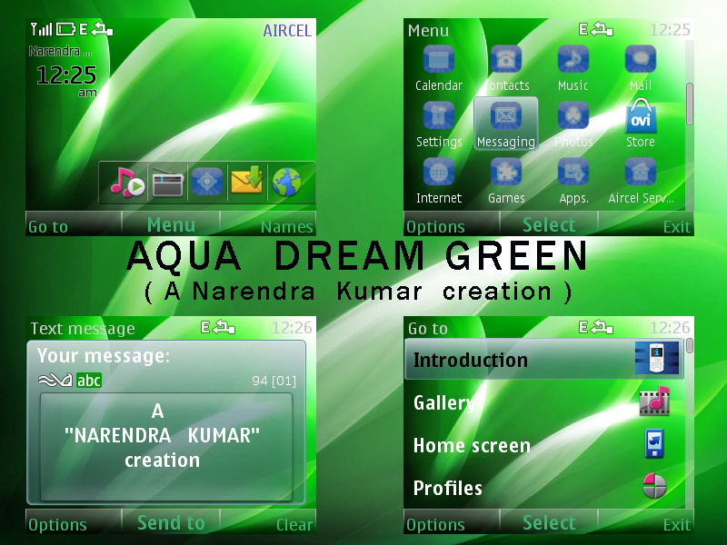 Narendra's Themes: Aqua Dream Green