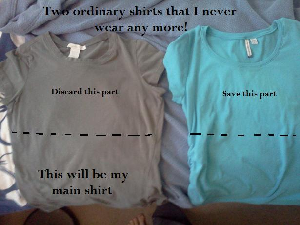 You 39 re sew crafty zero dollar 30 minute recycled nursing top for Cute shirts for 5 dollars